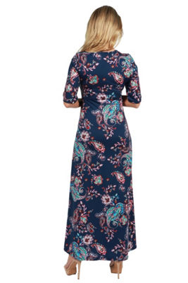 24Seven Comfort Apparel Katerina Maternity Maxi Dress