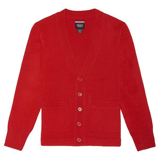 French Toast Anti-Peel Long Sleeve Uniform Cardigan- Big Kid XXL-Boys