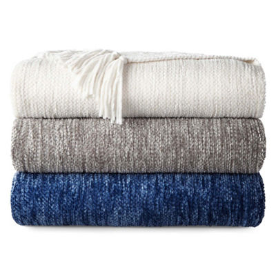 North Pole Trading Co Chenille Fringe Throw