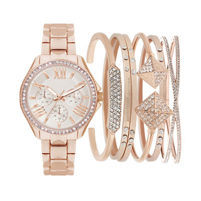 Mixit Womens Rose Goldtone 7-pc. Watch Boxed Set-Jcp2810rg569-228