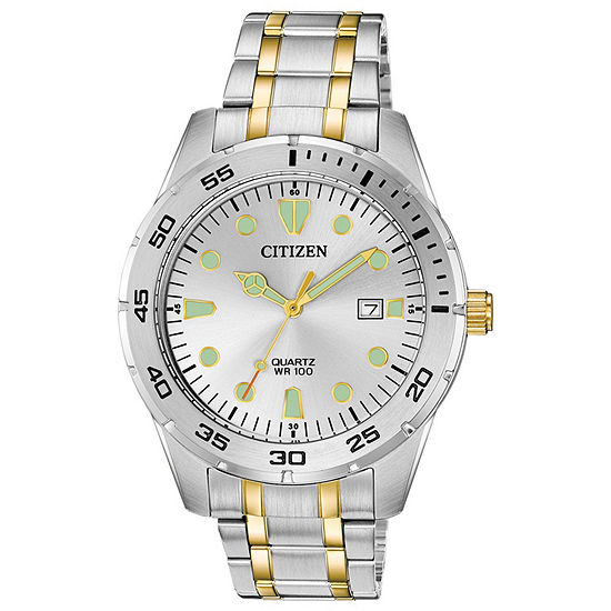 Citizen Mens Two Tone Stainless Steel Bracelet Watch-Bi1044-59b