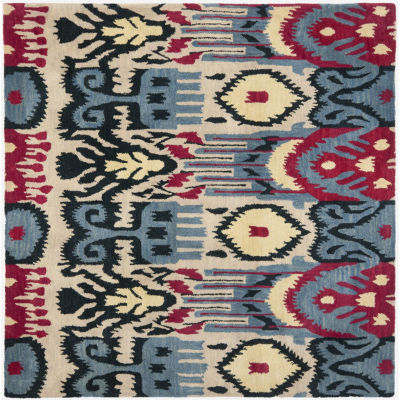 Safavieh Ikat Collection Eirann Geometric Square Area Rug