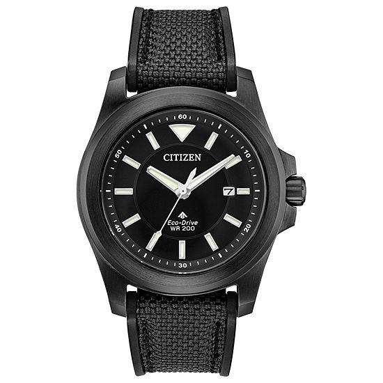 Citizen Mens Black Strap Watch-Bn0217-02e