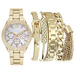 Mixit Womens Gold Tone 5-pc. Watch Boxed Set-Jcp2799g569-005