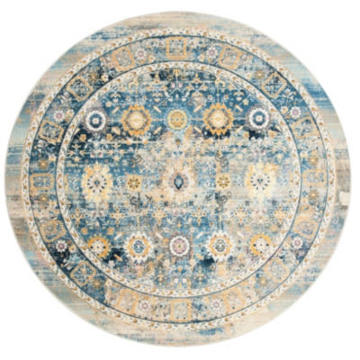 Safavieh Claremont Collection Riagan Oriental Round Area Rug