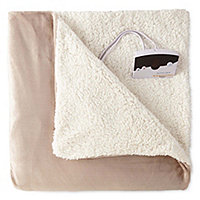 Biddeford Velour Reverse To Sherpa Heated Blanket
