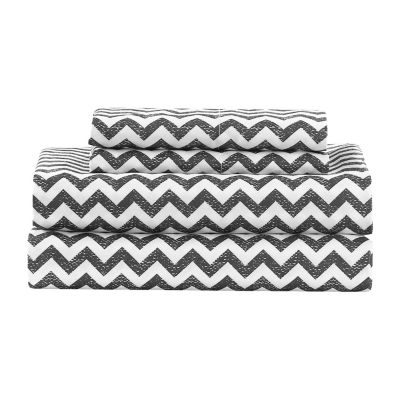 Kensie Casey Chevron Sheet Set