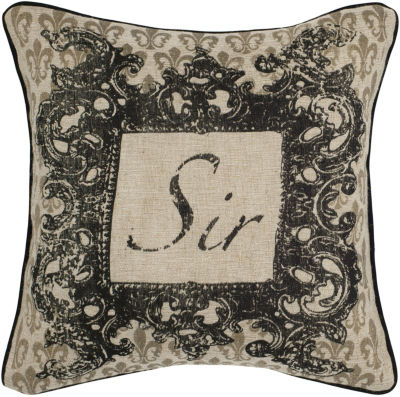 Rizzy Home Titus Words Decorative Pillow