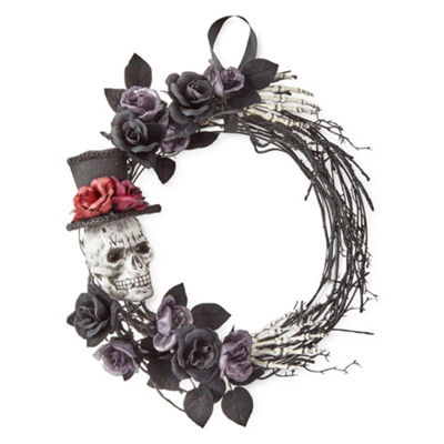 JCPenney Home Day Of The Dead Skeleton Wreath