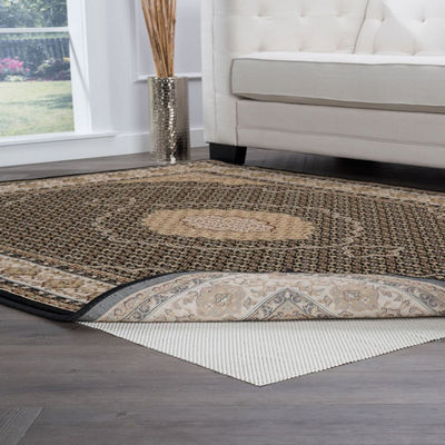Tayse Super Grip Traditional Round Area Rug Pad