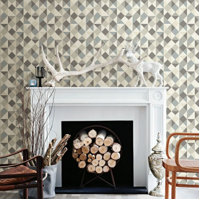 Brewster Wall Geo Peel & Stick Wallpaper Wall Decal
