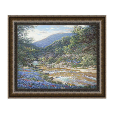 Morning At Willow Creek Framed Canvas Art