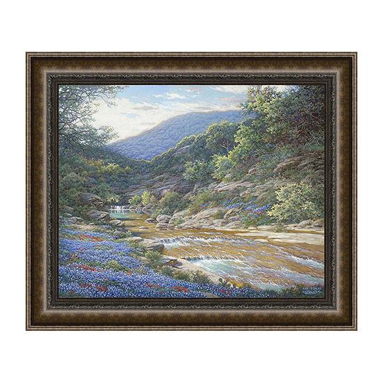 Morning At Willow Creek Framed Canvas Art