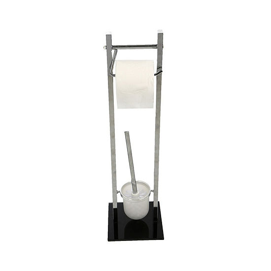 Mind Reader Toilet Paper And Toilet Brush Holder Silver