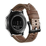 Samsung Gear S3 Compatible Unisex Adult Brown Leather Watch Band-Gp-R765breeeab