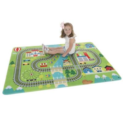 Hey! Play! Baby Train Scene Play Mat for Kids