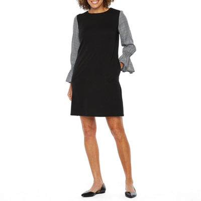 Vivi By Violet Weekend Long Sleeve Shift Dress