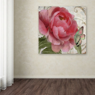 Trademark Fine Art Color Bakery Apricot Peonies IIGiclee Canvas Art