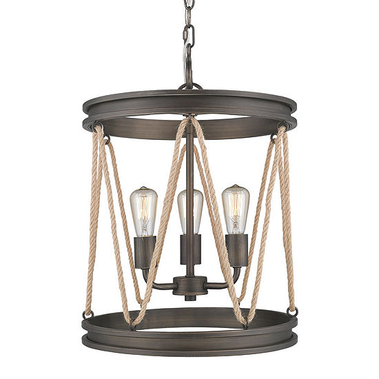 Golden Lighting Chatham Pendant in Gunmetal Bronze