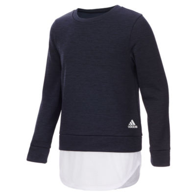 adidas Lightweight Fleece Jacket-Big Kid Girls