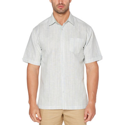 Cubavera Mens Short Sleeve Pattern Button-Front Shirt Big and Tall