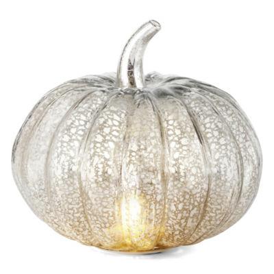 JCPenney Home Medium Led Mercury Glass Pumpkin Tabletop Decor