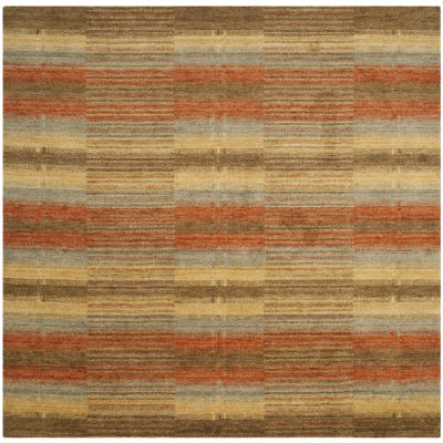 Safavieh Himalaya Collection Garnet Geometric Square Area Rug