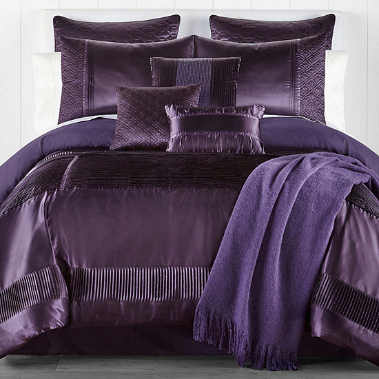 JCPenney Home Adriana 10-pc. Embellished Comforter Set