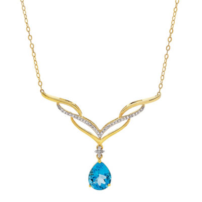 Blue Blue Topaz 10K Statement Necklace