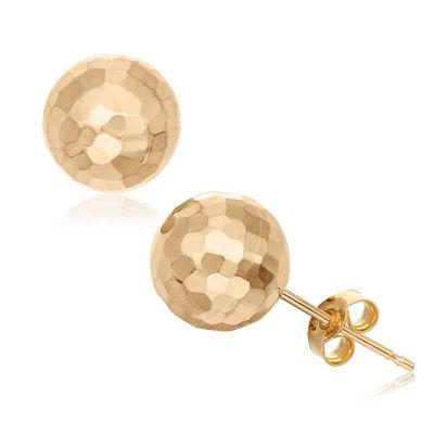 14K Gold 8mm Stud Earrings