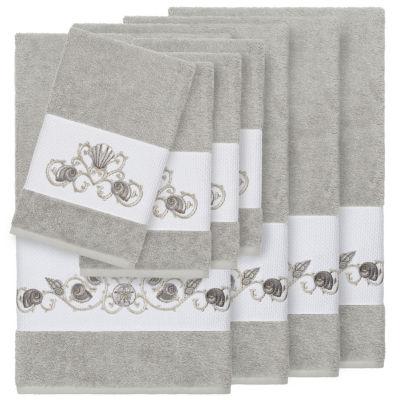 Linum Home Textiles 100% Turkish Cotton Bella 8PC Embellished Towel Set