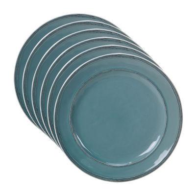 Certified International Orbit Teal 6-pc. Dinner Plate