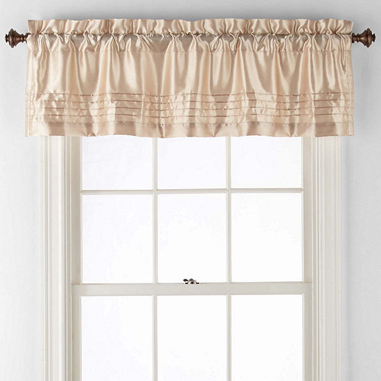 JCPenney Home Adriana Rod-Pocket Tailored Valance