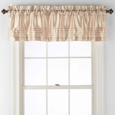 JCPenney Home Adriana Rod-Pocket Tailored Valance, One Size , Yellow
