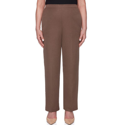 Alfred Dunner Sunset Canyon Straight Fit Woven Pull-On Pants