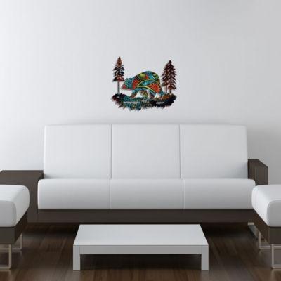 Metal Bear Wall Art Columbine Medium Bear