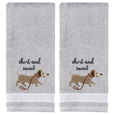 Saturday Knight Short And Sweet 2-pc. Embroidered Animals + Insects Hand Towel