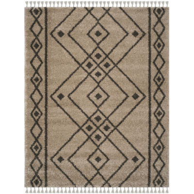 Safavieh Moroccan Fringe Shag Collection Anselmo Geometric Area Rug