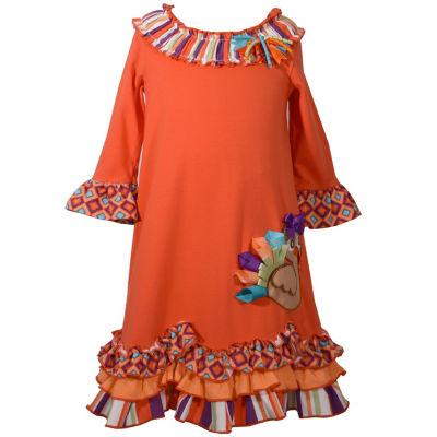 Bonnie Jean 3/4 Sleeve A-Line Dress Girls