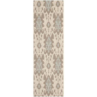 Safavieh Courtyard Collection Jerrod Floral Indoor/Outdoor Runner Rug