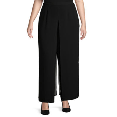 Scarlett Loose Fit Crepe Pull-On Pants - Plus