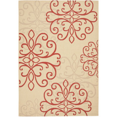 Safavieh Courtyard Collection Mortimer Floral Indoor/Outdoor Area Rug