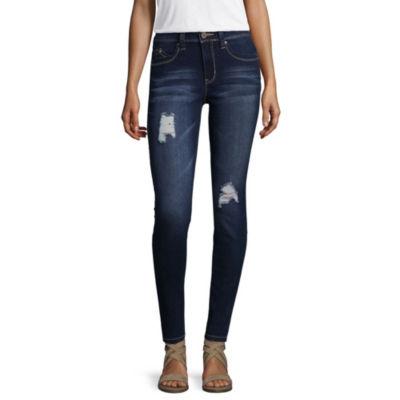 Ymi WannaBettaButt Ripped Skinny Fit Jeans-Juniors