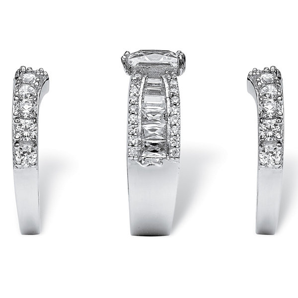Diamonart Womens Greater Than 6 CT. T.W. White Cubic Zirconia Bridal Set