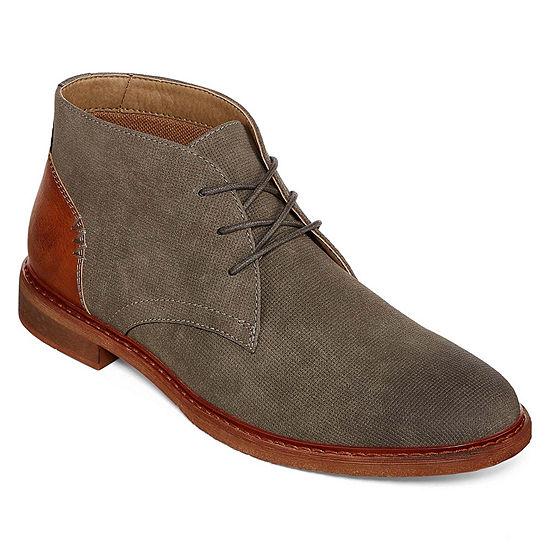 Arizona Mens Barr Chukka Flat Heel Lace-up Boots