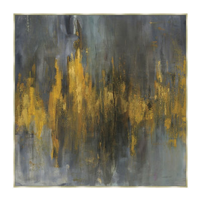 Black and Gold Abstract Framed Canvas Art