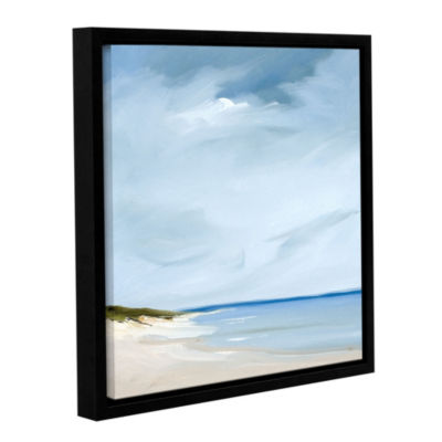 Brushstone Blue Floater-Framed Gallery Wrapped Canvas