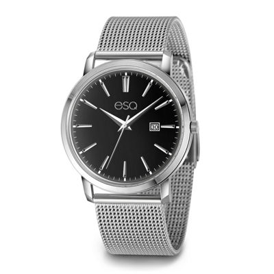 Esq Mens Silver Tone Bracelet Watch-37esq004001a