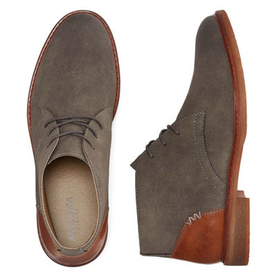 Arizona Mens Barr Chukka Flat Heel Lace-up Boots
