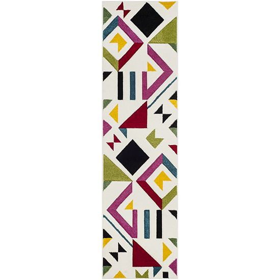 Safavieh Hollywood Collection Linnette Abstract Runner Rug